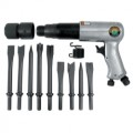 Mountain #MTN7330 250 mm Long Barrel Air Hammer with 9 Piece Chisel Set
